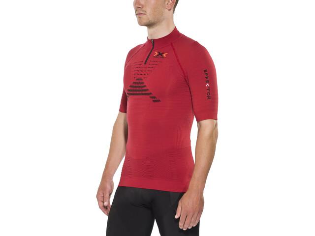 X-Bionic Effektor Trail Running Løbe T-shirt Herrer, paprika/black